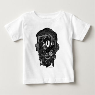zombie whith hole in face baby T-Shirt