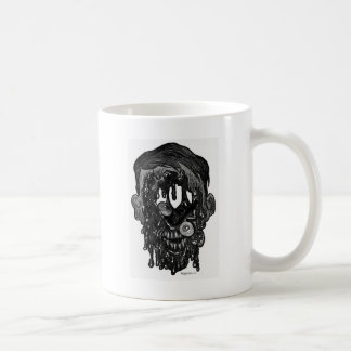 zombie whith hole in face coffee mug
