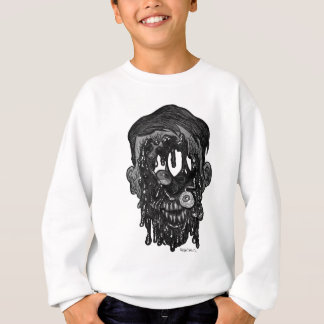 zombie whith hole in face sweatshirt