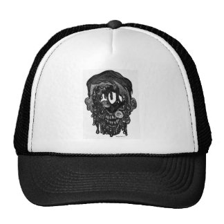 zombie whith hole in face trucker hat