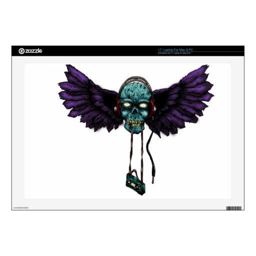 zombie wings laptop skin