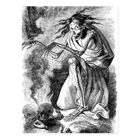 Zombie Witch of Elfinland Wud Postcard