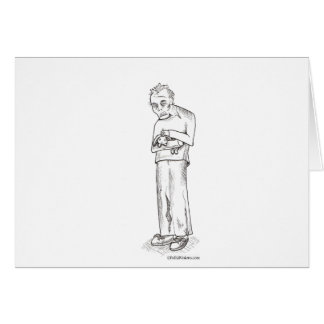 Zombie with Bunny Greeting Card