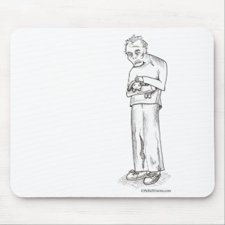 Zombie with Bunny Mouse Pad