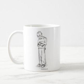 Zombie with Bunny Classic White Coffee Mug