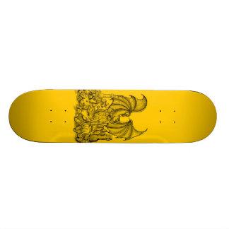 Zombie with dragon skateboard deck