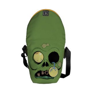 Zombie with His Eye Popping Out Messenger Bag