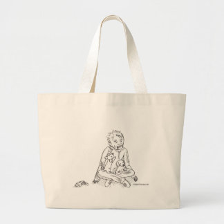 Zombie with Puppies Tote Bags