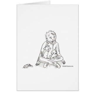 Zombie with Puppies Greeting Card