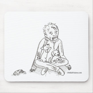 Zombie with Puppies Mouse Pad