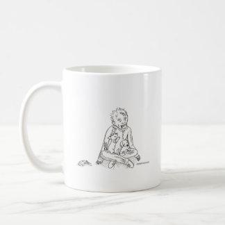 Zombie with Puppies Classic White Coffee Mug