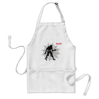 Zombie With Web Halloween Scary Apron
