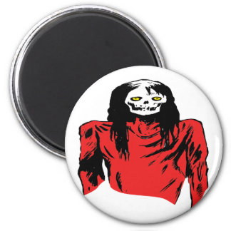 Zombie Woman 2 Inch Round Magnet