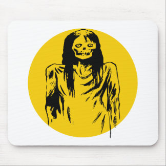 Zombie Woman Mouse Pads