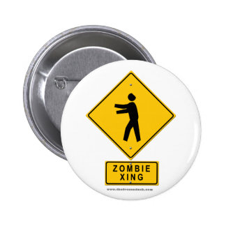 Zombie XING 2 Inch Round Button