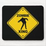 Zombie Xing Crossing Halloween Mousepads