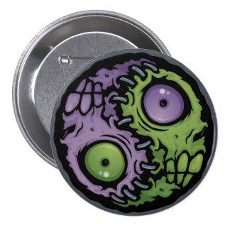 Zombie Yin-Yang 3 Inch Round Button