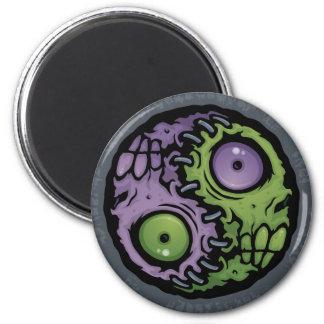 Zombie Yin-Yang Fridge Magnets
