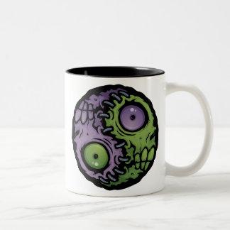 Zombie Yin-Yang Two-Tone Coffee Mug