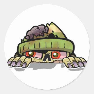 Zombie Zim Classic Round Sticker