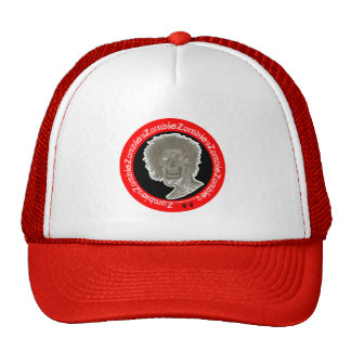 Zombie,Zombies! Black/White/Red Trucker Hat