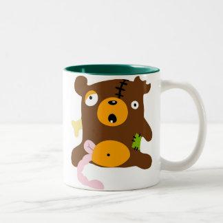 zombiebeerzonderlogo Two-Tone coffee mug