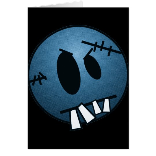 ZOMBIECON FACE - BLUE CARD