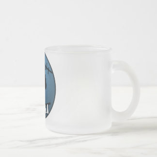 ZOMBIECON FACE - BLUE FROSTED GLASS COFFEE MUG