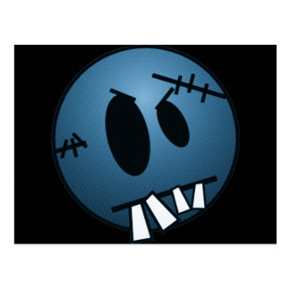 ZOMBIECON FACE - BLUE POSTCARD