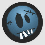 ZOMBIECON FACE - BLUE STICKERS