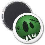 ZOMBIECON FACE - GREEN 2 INCH ROUND MAGNET