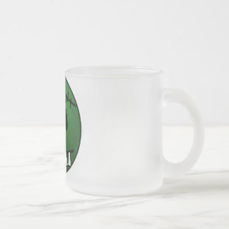 ZOMBIECON FACE - GREEN FROSTED GLASS COFFEE MUG