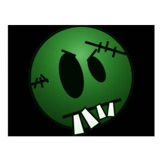 ZOMBIECON FACE - GREEN POSTCARD