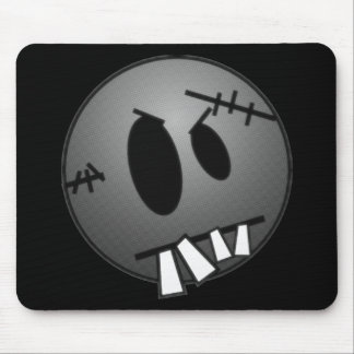 ZOMBIECON FACE - GREY B&W MOUSE PAD