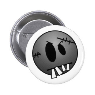 ZOMBIECON FACE - GREY B&W PINBACK BUTTONS