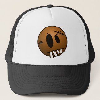 ZOMBIECON FACE - ORANGE TRUCKER HAT