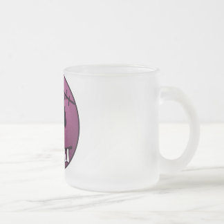ZOMBIECON FACE - PINK FROSTED GLASS COFFEE MUG