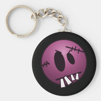 ZOMBIECON FACE - PINK KEYCHAIN