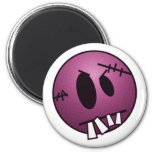 ZOMBIECON FACE - PINK REFRIGERATOR MAGNETS