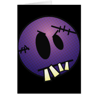 ZOMBIECON FACE - PURPLE GREETING CARD