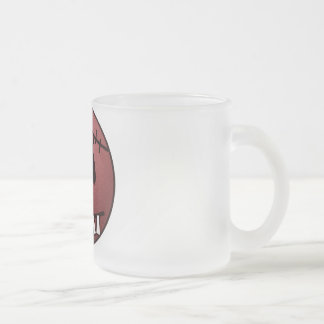 ZOMBIECON FACE - RED FROSTED GLASS COFFEE MUG