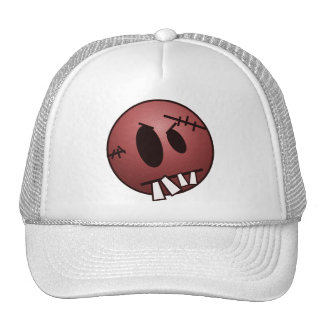 ZOMBIECON FACE - RED TRUCKER HAT