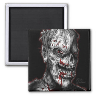 zombieface_1b 2 inch square magnet