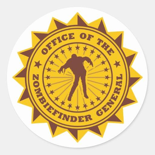 Zombiefinder General Round Stickers