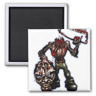 zombieheadless 2 inch square magnet