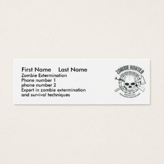 zombiehunter, First Name    Last Name, Zombie E... Mini Business Card