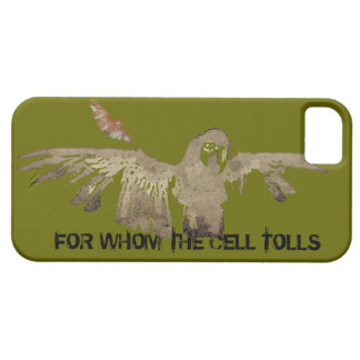 "ZombieParrot ""For Whom Cell Tolls"" iPhone 5 Case"