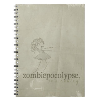 Zombiepocolypse; it's coming. spiral notebook