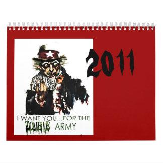 Zombies 2011 calendar