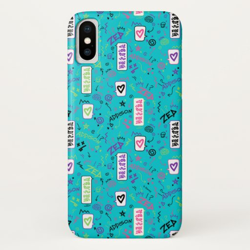 Zombies 2 | 80's Pattern iPhone X Case